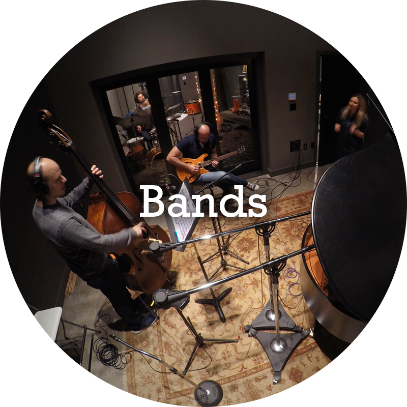 Record your band live or with overdubs!